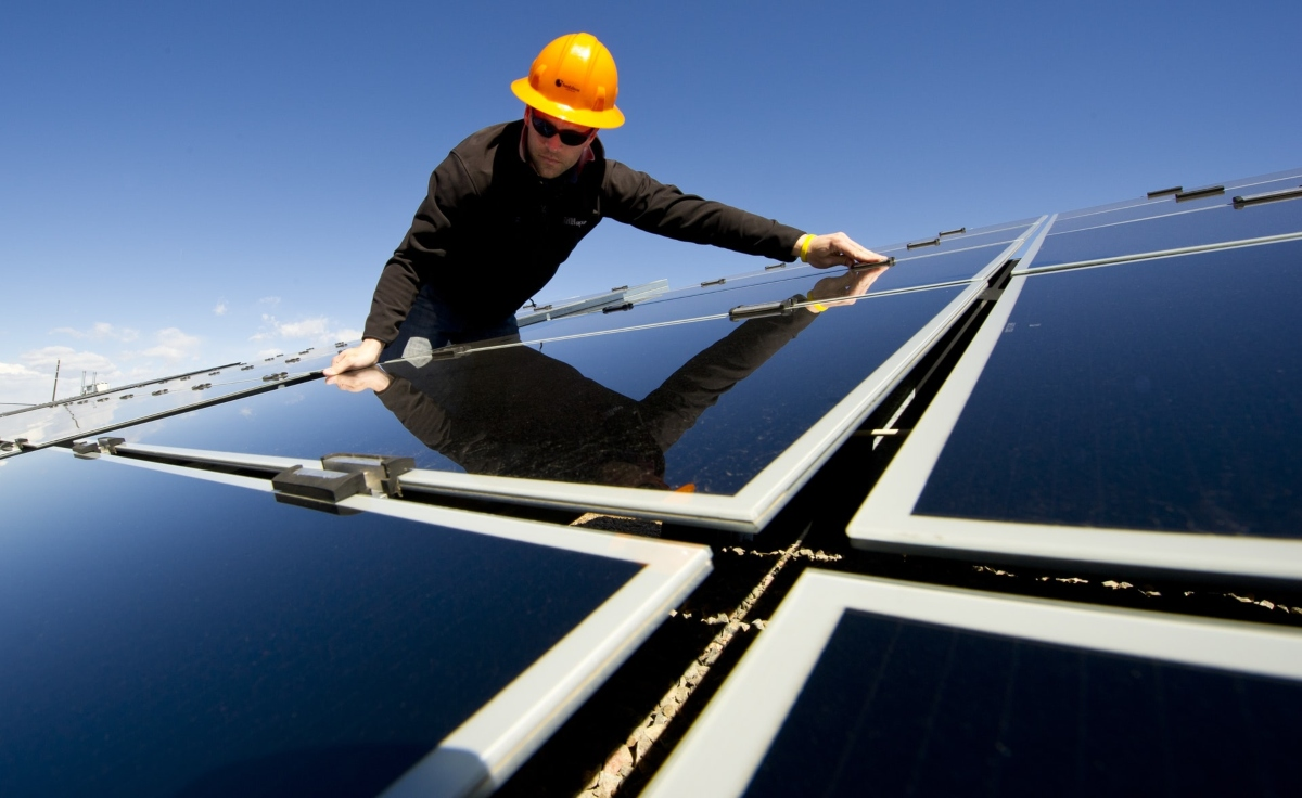 Solar panels that make living off-grid in Spain possible