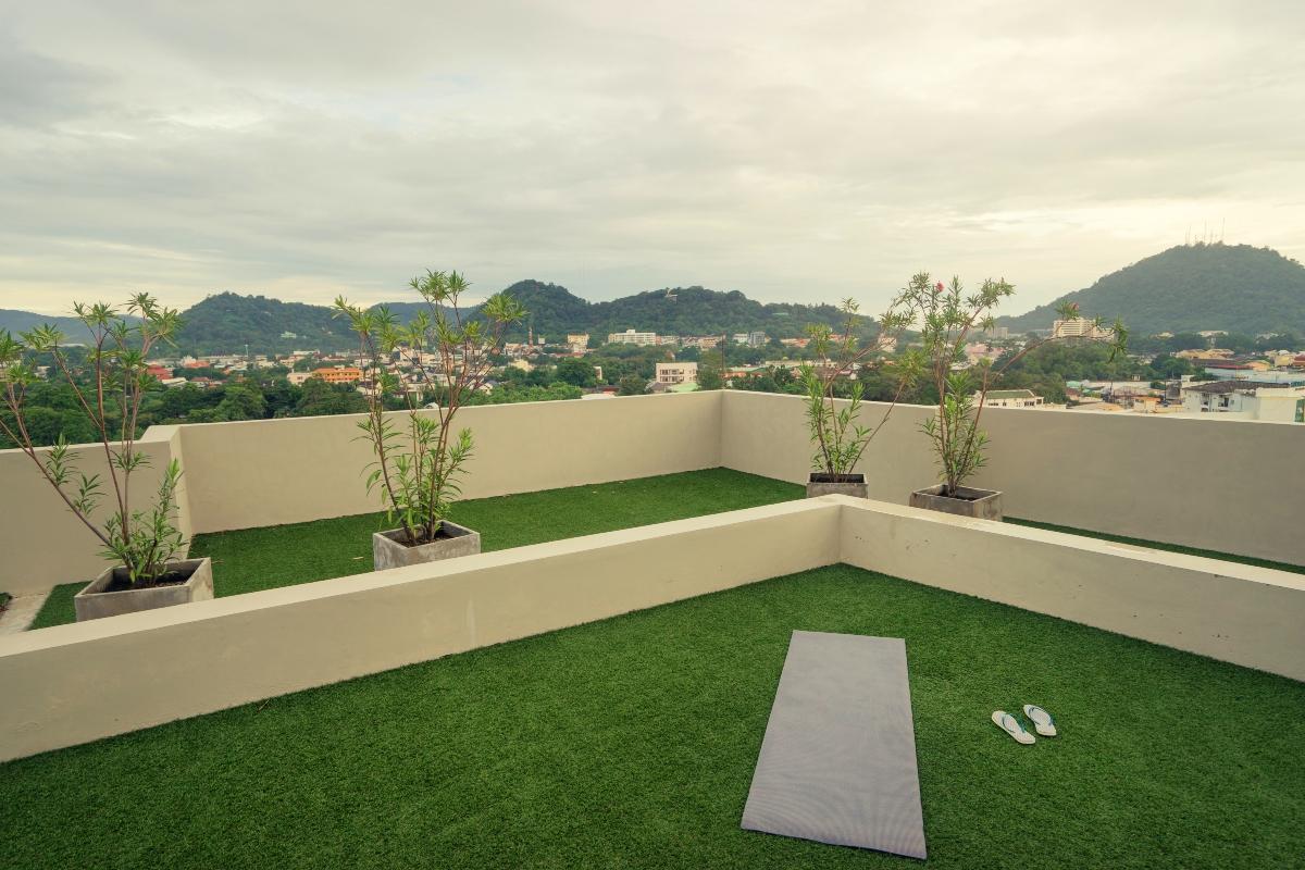 A green roof terrace in Spain