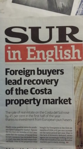 Foreign buyers lead recovery of the Costa property market