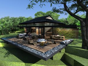 Open plan design to integrate outdoors with indoors Light steel structure,