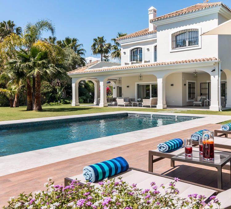 Architect's design of a villa in Marbella